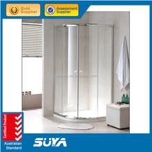 2015 SUYA-0724 fashion new style textured glass shower door
