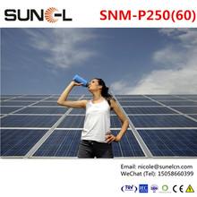 250w solar modules price for 1kw 2kw 3kw 4kw 5kw grid system