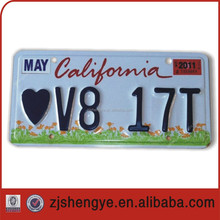 High security watermark laser license plate