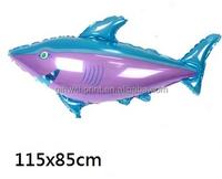 Large Shark Ocean Animal Balloons Wholesales cheap price metallic foil helium balloon 2015
