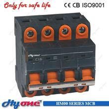 4 pole c6 to c63 mcb 220v 415v iec60947-2 standard new mcb miniature circuit breaker