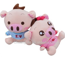 plush wedding pig stuffed plush pink pig toy