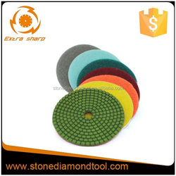Resin bond marble and granite tools of flexible polishing pad