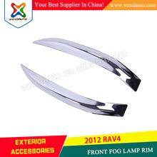 FRONT CHROME FOG LIGHT COVER LAMP EYEBROW TRIM FRONT FOG LAMP FOR TOYOTA RAV4 2009-2013 2014