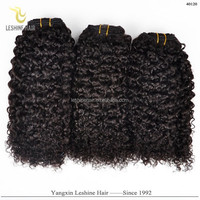 Good Feedback Brand Name Best Quality Full Cuticle No Shedding No Tangle Dyeable hair weave company tight curly