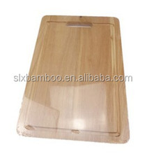 2015 hot selling square bamboo cutting board Raw bamboo solid bamboo cutting board