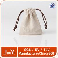 Custom printed organic cotton muslin gift drawstring bags