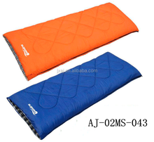 Autumn and winter thickening hollow cotton sleeping bag outdoor camping adult can be spliced envelope sleeping bag