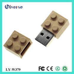 Toy bricks shape usb memory china recycled cardboard usb flash drive
