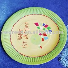 disposable colorful paper plate for party/ paper tableware