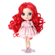 Long Wavy Bright Red Doll Wig for American Girl Doll