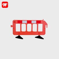 Plastic road safety barrier safety fence