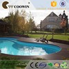 3d park water decoration chinese engineered laminate composite flooring tile wood plastic polymer decking