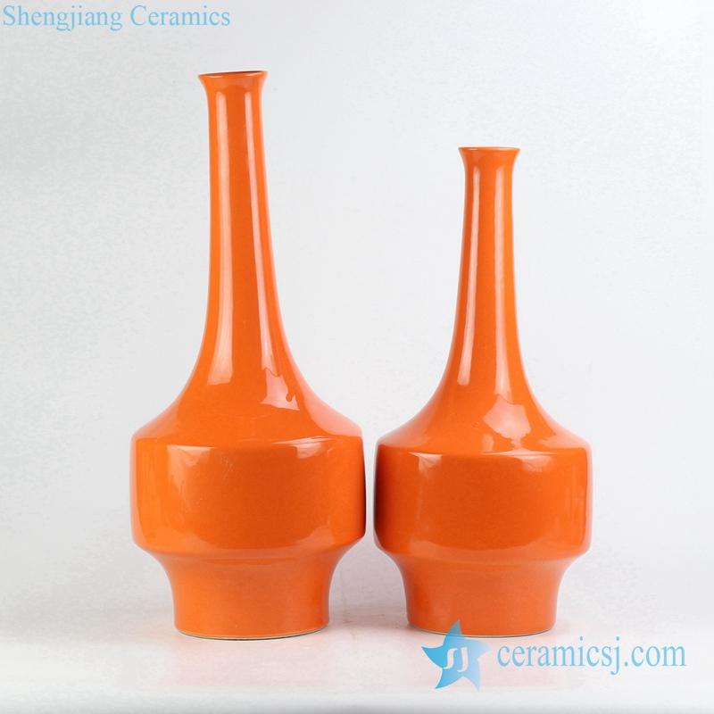Rykb148 Marmalade Plain Color Long Narrow Neck Vases Buy Narrow