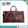 mens vintage leather travel duffel bag wholesale