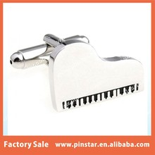 High Quality Fashion Gifts White Piano Cufflink Metal Cuff Links