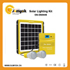 6V Portable Solar Home Lighting Kit with 5W Solar Panel and 4.5AH Battery Inside
