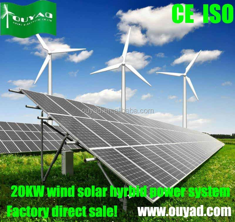 10kw Wind Solar Hybrid Power System for Home 10KW wind turbine plus ...