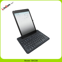 For iPad mini ABS Bluetooth Keyboard with Holder Stand