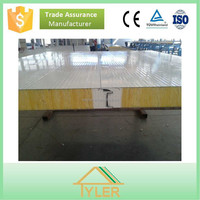 building materials High strength steel plate fire insulation rock wool sandwich panel