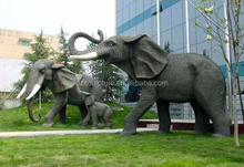 New products metal family statues antique bronze elephant sculpture