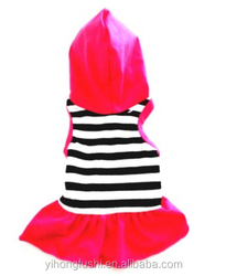 New BLACK WHITE STRIPE HOODIE Dog Dress Pet Clothes Dog Shirt