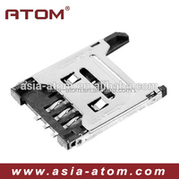 Celphone Sim card connector Sim Card holder Pedal lift Height 1.8mm connector