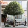Artificial manzanita tree with fake tree trunks decorate wedding table tree centerpieces