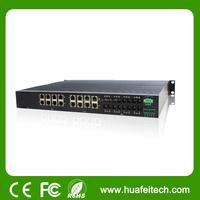 24 port switch/din rail gigabit network switch