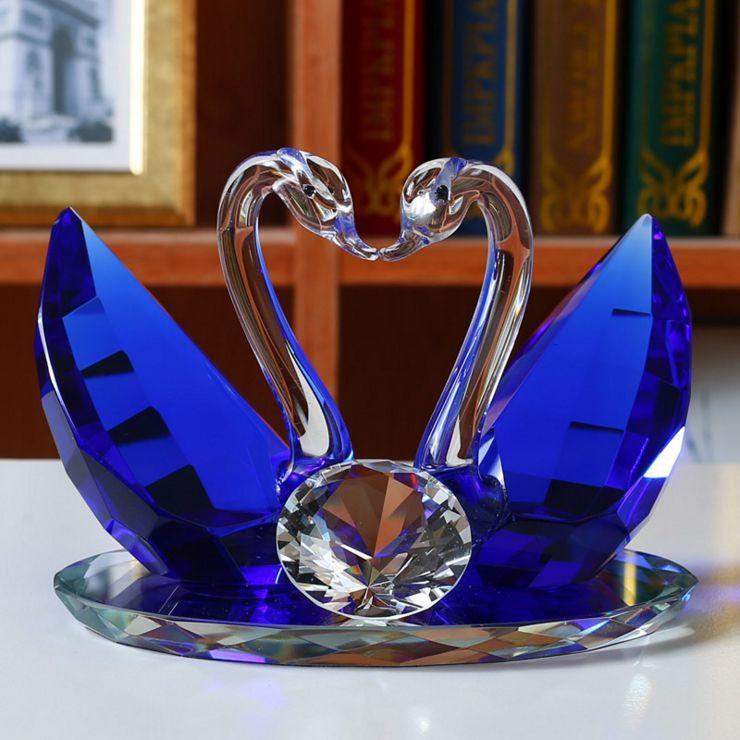 Подарок хрустальные лебеди 66