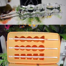 Fruta confitada caucho de silicona ice cube tray / molde de silicona fácil para la fabricación de la vela