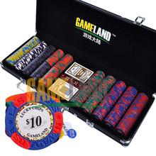 500 Pcs 14g Las Vegas Poker Chip Set In Black Aluminum Case