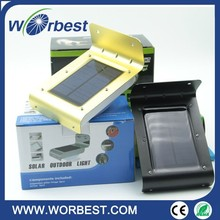 LED Wireless Solar Powered Motion Sensor Light Outside Wall Mount Gutter