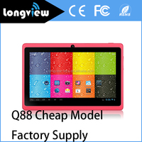 Q88 A33 Quad Core Tablet 7inch Android 4.4 wifi bluetooth camera 512MB/4G 1GB/8GB Tablet Q88