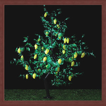 hot sale new product outdoor and indoor artificial fruit tree lights led iron trunk mango tree light
