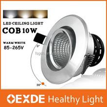 Oexde hot selling cob led downlight,hotel spot light replacing 10w warm white spot led