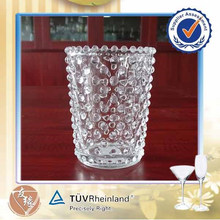 Hot selling 220ml small round candle glassware wholesale