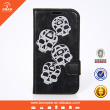 PU leather flip cover phone case for samsung s4