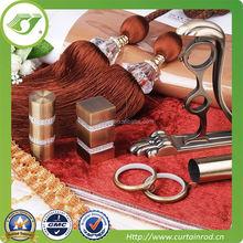 Galvanizing swivel round curtain rod / diamond finial curtain rod track