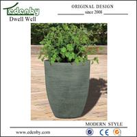 Modern 12 inch fiberglass planter flower pot