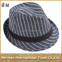 2015 fashion funny stripe pure cotton hat and cap newest man fedora hat