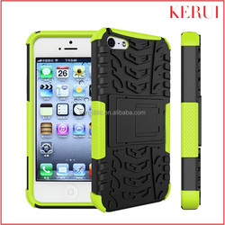 New 2 in 1 kickstand armor case wholesale custom phone case for iphone 5c