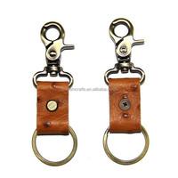New Handmade Ostrich Leather Key Chain Keyring Holder Bag Charm Lot Vintage Fob