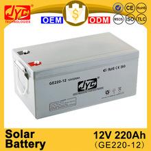 Continual hot sale 12v 220ah deep cycle solar battery