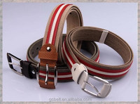 Man and ladies Fashion woven and canvas golf belt