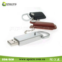 Fabulous Leather Pen Drive with virile Business Style from Experienced Shenzhen Manufacturer
