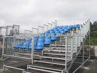 Mobile steel understructure HDPEseat assemble bleachers outdoor indoor playground audience bucket seat