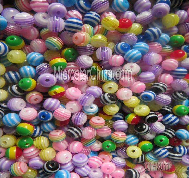 20 mm bande en plastique de résine perles pour collier fabrication de bijoux