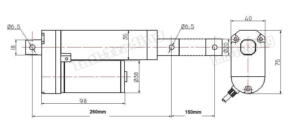heavy duty 6 u0026quot  inch linear actuator stroke 330 lb pound max