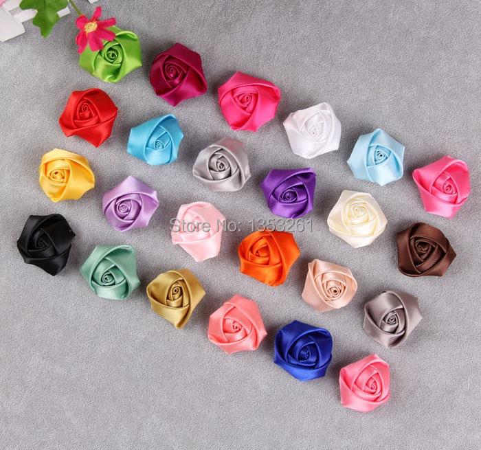 Making Flower Headbands Flowers Satin Rose Make